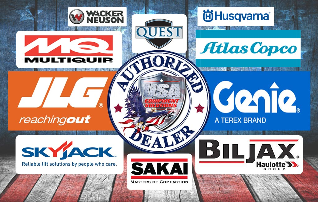 USA Equipment Solutions Authorized Dealer of JLG, Genie, Multiquip, Skyjack, Biljax, Sakai, Atlas Copco, Quest, Wacker Neuson, Husqvarna